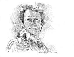 clint eastwood as callahan drawing by david lloyd glover