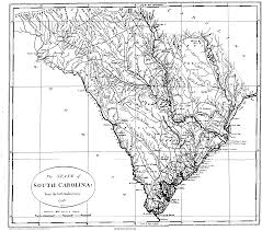 Georgia Counties Map The Usgenweb Archives Project South Carolina Maps