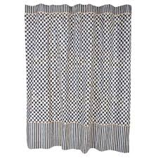 Check Shower Curtain Mackenzie Childs Courtly Check Linen Fabric Shower Curtain