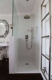Shower Partitions Best 25 Half Wall Shower Ideas On Pinterest Bathroom Showers