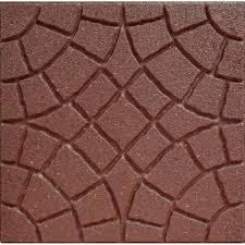 Recycled Rubber Patio Pavers Envirotile 18 In X 18 In Rocca Terra Cotta Paver Mt5000740