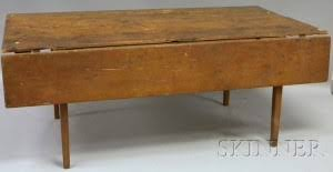 Birch Kitchen Table by Search All Lots Skinner Auctioneers