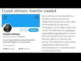 Seeking Troll Pro Black Account Johnson Was A Russian Troll