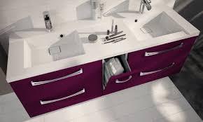 salle de bain aubergine et gris meuble salle de bain aubergine