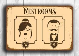 restroom sign restroom signs toilet sign male female