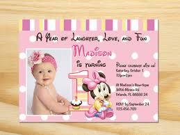 minnie mouse first birthday invitation printable