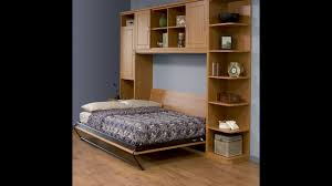 Murphy Bed Shelves Furniture Alluring Queen Size Murphy Bed For Minimalist Bedroom
