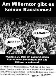 rassistische sprüche rassismus und sexismus hell of fc st pauli