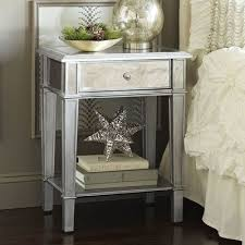 Silver Mirrored Bedroom Furniture by Best 25 Silver Nightstand Ideas On Pinterest Silver Bedroom