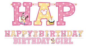 minnie mouse 1st birthday jumbo letter banner party paradise