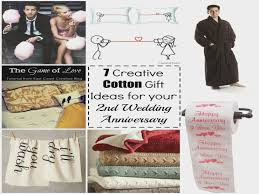 second wedding anniversary gift ideas for 7 cotton gift ideas for your 2nd wedding anniversary second