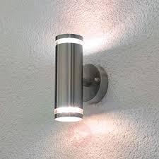 led outdoor wall mount lighting light aweinspiring tiberus stainless steel led outdoor wall light