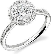 bezel set engagement ring stardust bezel set diamond engagement ring w halo 40cttw