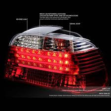 e38 euro tail lights 01 bmw e38 7 series pair of clear lens red led rear brake signal tail