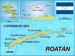 map of roatan honduras map of roatan honduras map in the atlas of the atlas