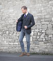tweed suit with j brand skinny jeans your average guy