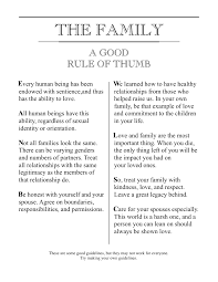 family proclamation i made my own the family a proclamation exmormon