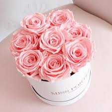 forever roses forever roses pink roses in white hat box esther co