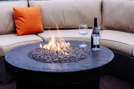 Gas Fire Pit Table And Chairs Malibu Curved Sectional Sofa Set With Savanna Stone Fire Table