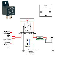 relay switch wiring diagram circuit and schematics diagram