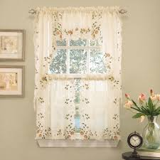 kitchen curtain swags and valances window treatments design ideas