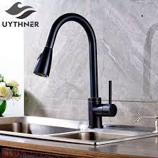kitchen faucets oil rubbed bronze finish uythner luxury pull out oil rubbed bronze finish kitchen faucet