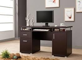 Office Desk With File Cabinet Espresso Finish Wood Office With Computer Desk With File Cabinet
