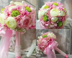 wedding flowers dublin pink silk flowers bridal bouquets 2015 new arrival luxury