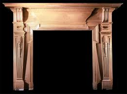 an oak 19th century elizabethan revival antique fireplace mantel