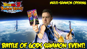 dragon ball dokkan battle battle god summon event awesome