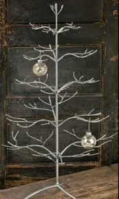 christmas holiday home decor hinged branch metal ornament tree