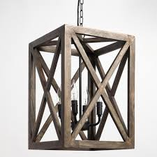 Wood Chandelier Canada Gray Wood And Iron Valencia Chandelier World Market