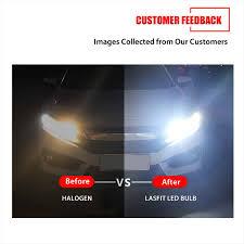 light bulb conversion to led lasfit lc6 9145 9140 9055 h10 led fog light bulb conversion kit 60w