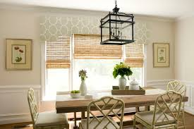 Dining Room Bay Window Treatments - formal window treatments dining room traditional with bamboo