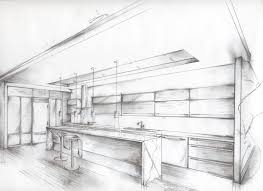 Interior Design Sketches by Contemporary Kitchen Design Sketch Concept Layout Rough E Inside