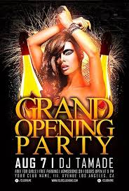 free grand opening party flyer template vol 2 download for photoshop