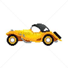 pixel art car pixel art vintage car vector image 1987875 stockunlimited