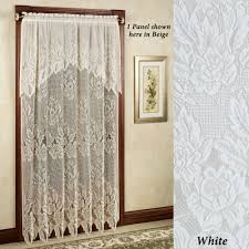 easy style hallie magnolia lace panel with attached valance