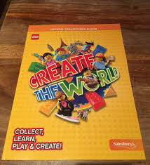 lego create the world trading cards book sainsbury u0027s official