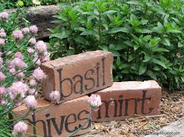 Diy Garden Crafts - simple details brick herb markers