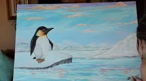 fun penguin painting youtube