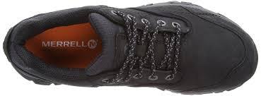 merrell men u0027s moab rover low rise hiking shoes black lace ups