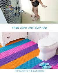 Non Slip Bathroom Flooring Ideas 25cmx25cm 4pcs Bathroom Mosaic Non Slip Mats Pvc Bath Floor Mat