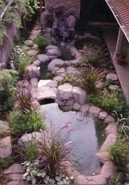 small backyard pond rockscapes