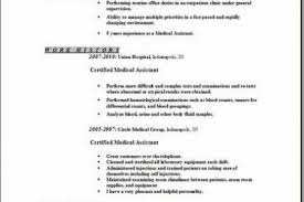 Certified Medical Assistant Resume Samples by Resume Examples For Medical Office Specialist Reentrycorps