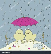 vector illustration frog umbrella rain stock vector 280391906