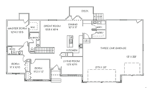 single story open floor plans ranch house floor plans open plan single story open floor plans