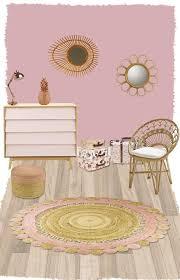 tapis chambre d enfants tapis rond en jute pour chambre d enfant anusha nattiot tapis rond