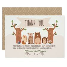 woodland thank you gifts on zazzle