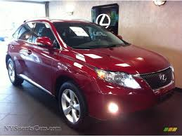 lexus red rx 350 for sale 2010 lexus rx 350 awd in matador red mica 021061 nysportscars